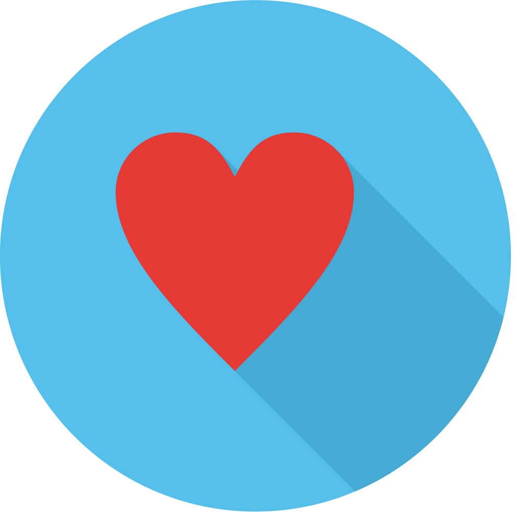 Icon of a heart for core value of love