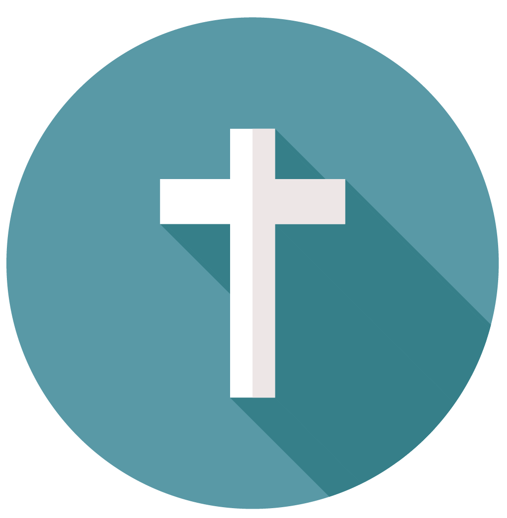 Icon of a cross representing the core value of Faith